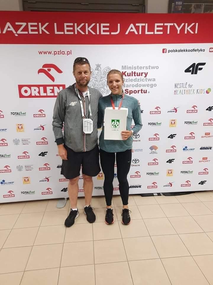 Regina Piechowska - lekkoatletka Talexu Borzytuchom - brązową medalistką Mistrzostw Polski kategorii U 20
