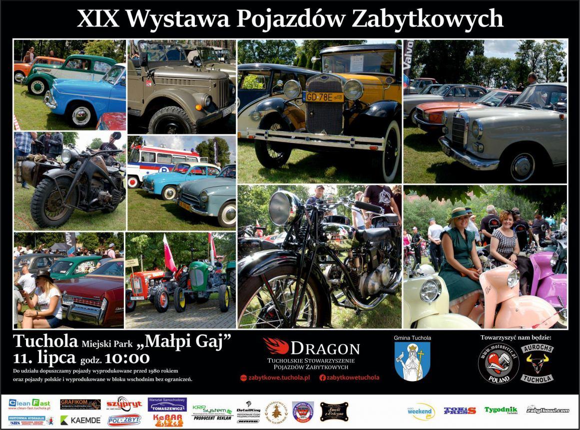 W najbliższą niedzielę 11.07 w Tucholi odbędzie się już 19. Wystawa Pojazdów Zabytkowych