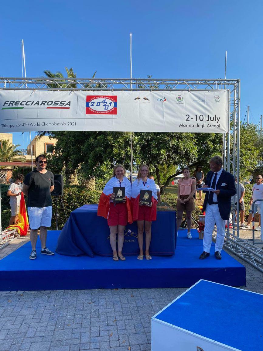 Agnieszka Pawłowska z ChKŻ zdobyła trzecie miejsce w Mistrzostwach Świata w klasie 420 we Włoszech