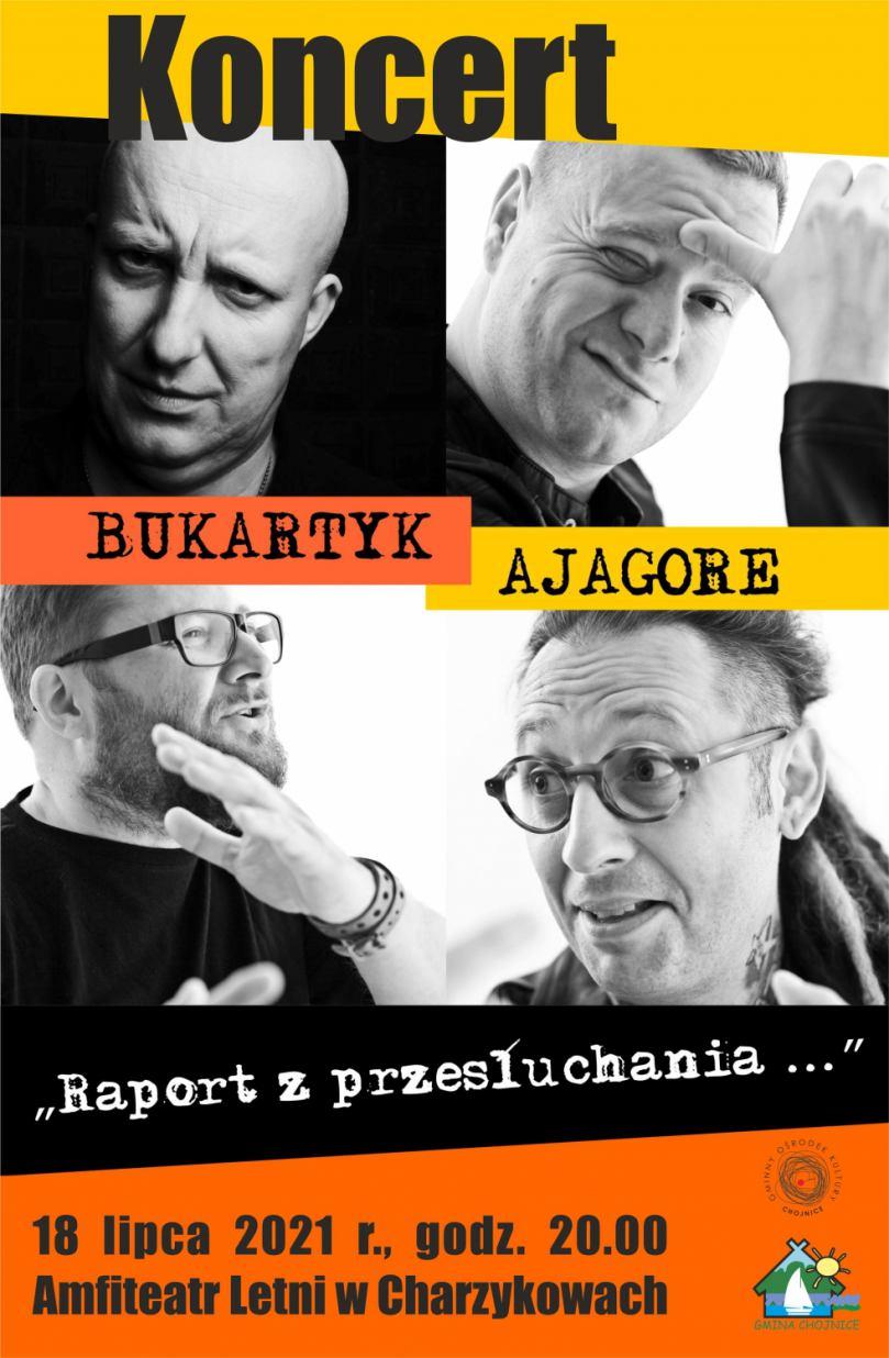 W niedzielę 18.07 w Charzykowach wystąpią Piotr Bukartyk i Ajagore