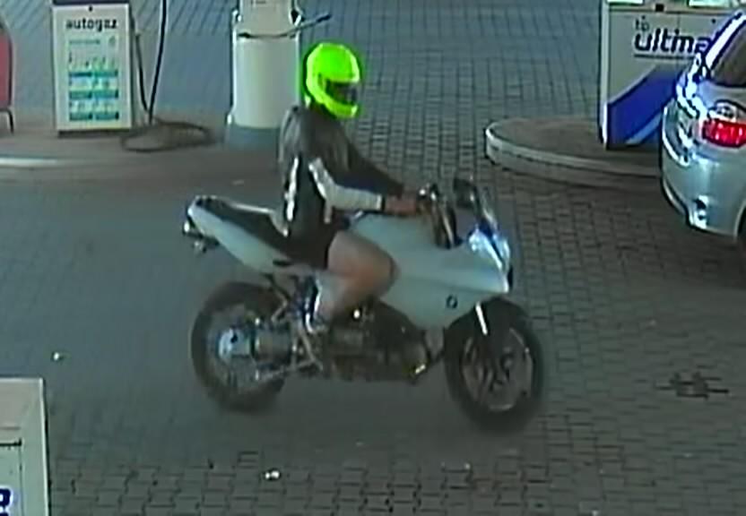Kościerska policja apeluje o pomoc w ustaleniu tożsamości motocyklisty, który nie zapłacił za paliwo na stacji benzynowej
