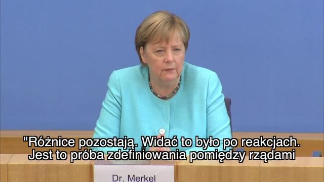 A. Merkel o porozumieniu z USA ws. Nord Stream 2 To dobry krok, który wymagał kompromisu po obu stronach