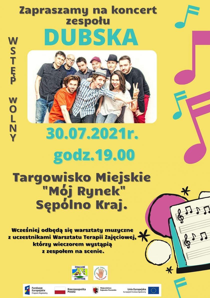 Zespół Dubska wystąpi w piątek 30 lipca w Sępólnie Krajeńskim