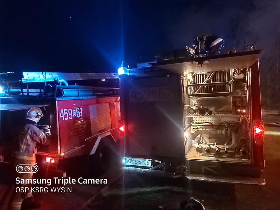 Seria pożarów w powiecie kościerskim. Paliło się między innymi biuro w zakładzie produkcyjnym w Wielu FOTO
