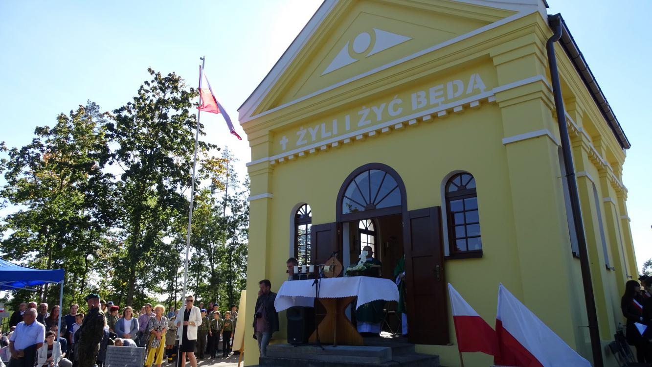 Władze Więcborka, powiatu  i zwykli mieszkańcy oddali hołd pomordowanym w obozie w Karolewie w 1939 r. FOTO