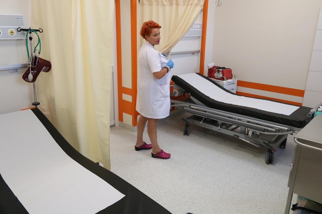 Izba przyjęć człuchowskiego szpitala już po remoncie. Pomieszczenia są odnowione FOTO