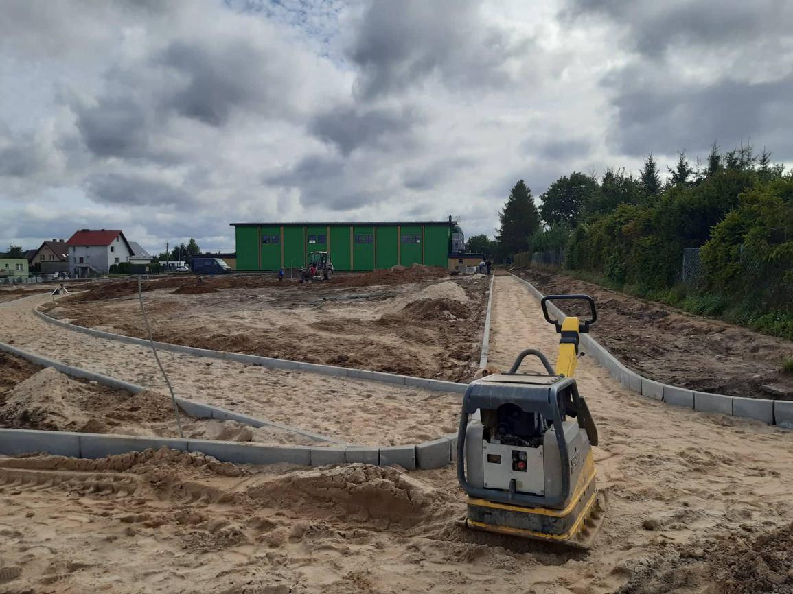 Trwa budowa nowego miejsca rekreacji i wypoczynku w gminie Kościerzyna