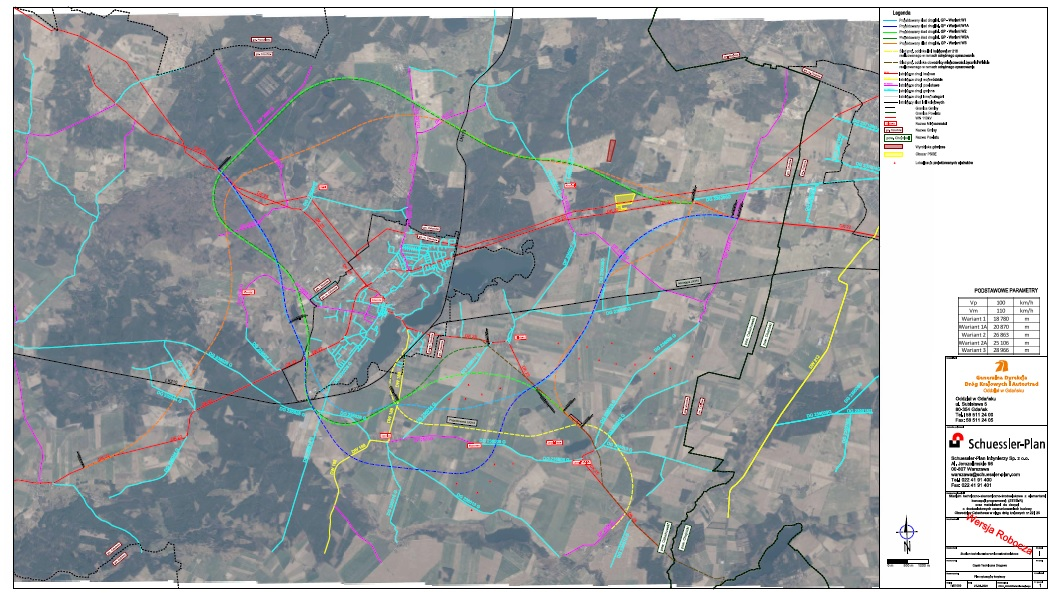 Dotarliśmy do mapy wariantów przebiegu obwodnicy Człuchowa. Omówione zostaną 28 września