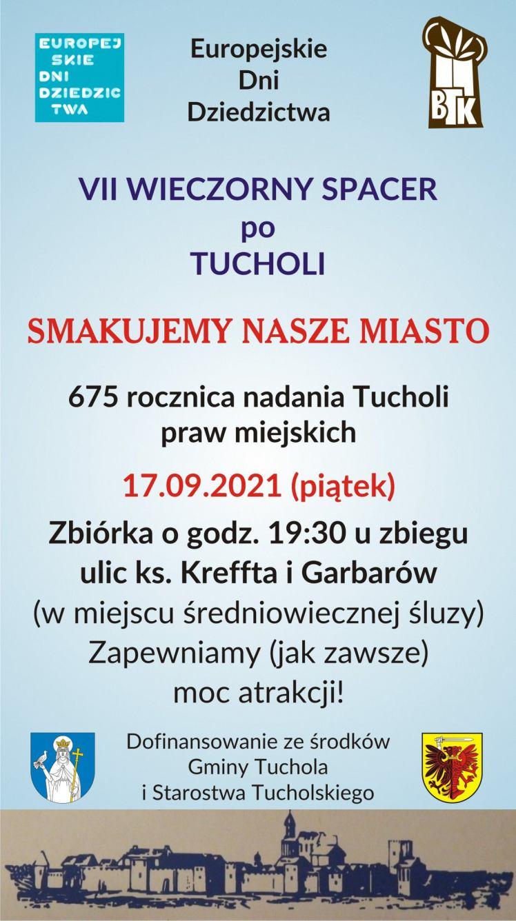 W piątek 17 września w Tucholi odbędą się Europejskie Dni Dziedzictwa