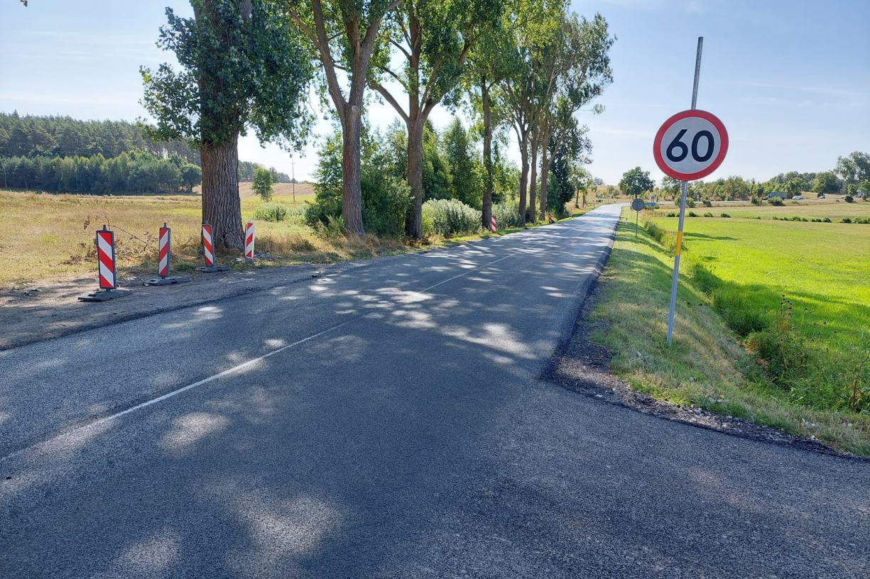 Zakończył się cząstkowy remont drogi wojewódzkiej nr 241 przebiegającej przez powiat sępoleński
