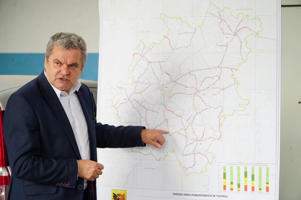 37% dróg w powiecie tucholskim jest w złym stanie. Po badaniu stanu nawierzchni stworzono specjalną mapę