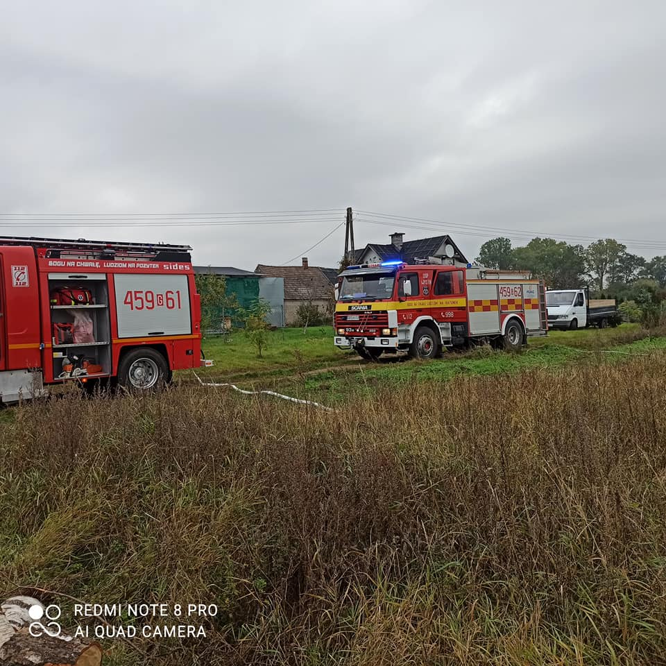 Pożar domku letniskowego w Wysinie w powiecie kościerskim