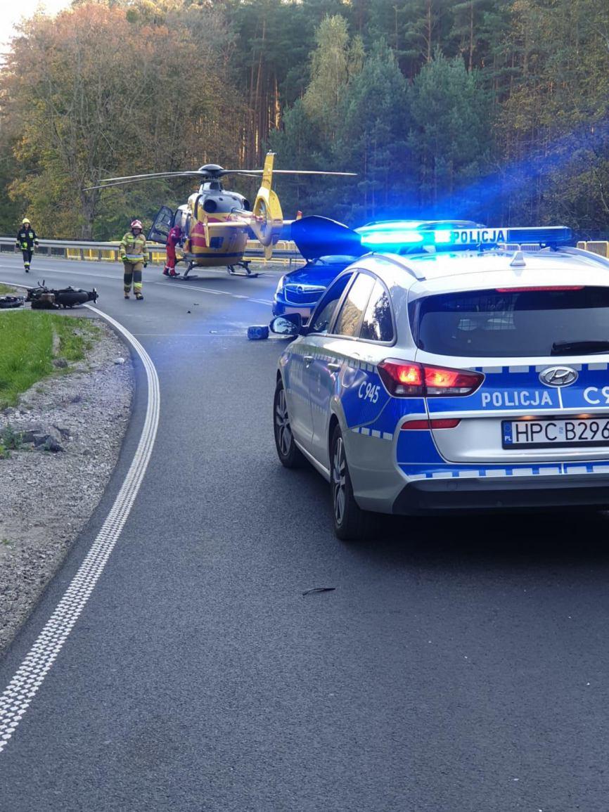 Są wstępne ustalenia policji w sprawie  wypadku na drodze wojewódzkiej 240 Tuchola-Płazowo