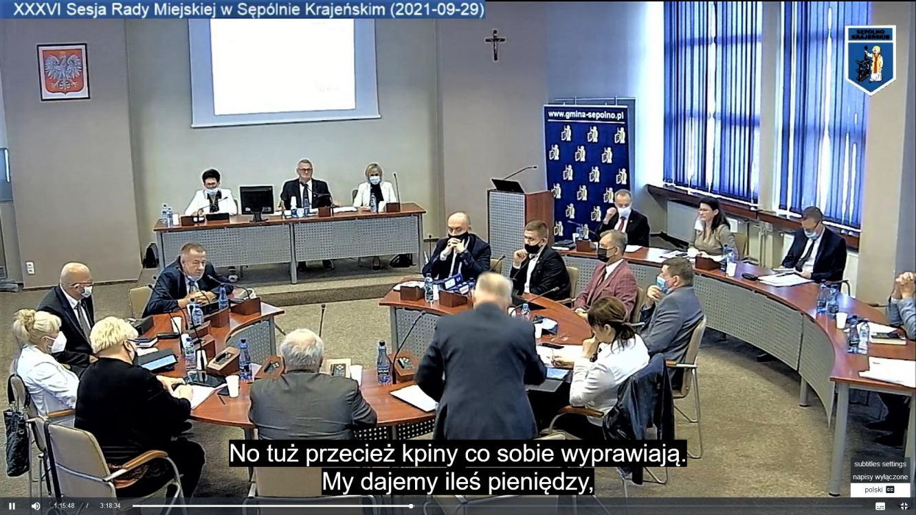 Radni Sępólna Krajeńskiego krytykują marszałka kujawsko-pomorskiego za stan dróg wojewódzkich w gminie