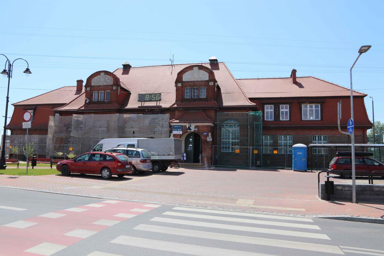 Dworzec w Tucholi na finiszu rewitalizacji. Uroczyste oddanie do użytku jeszcze w listopadzie