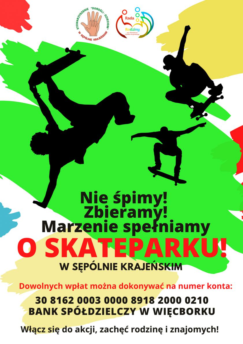 Sępoleńska Rada Rodziny chce budowy skate parku i parku linowego w Sępolnie Krajeńskim
