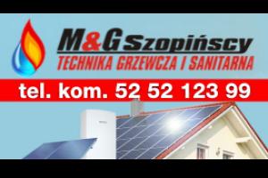 Logo MG Szopińscy - Technika Grzewcza i Sanitarna
