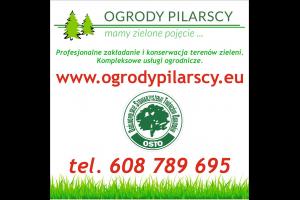 Logo Ogrody Pilarscy mamy zielone pojęcie